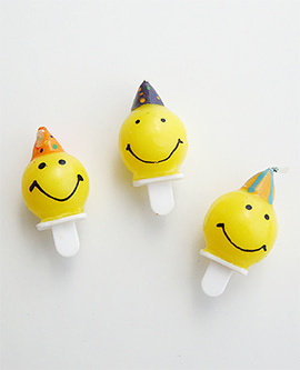 Party Smile Candle Trio