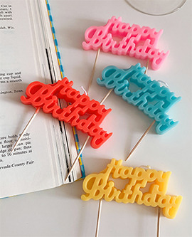 Birthday Sign Candle - Pop
